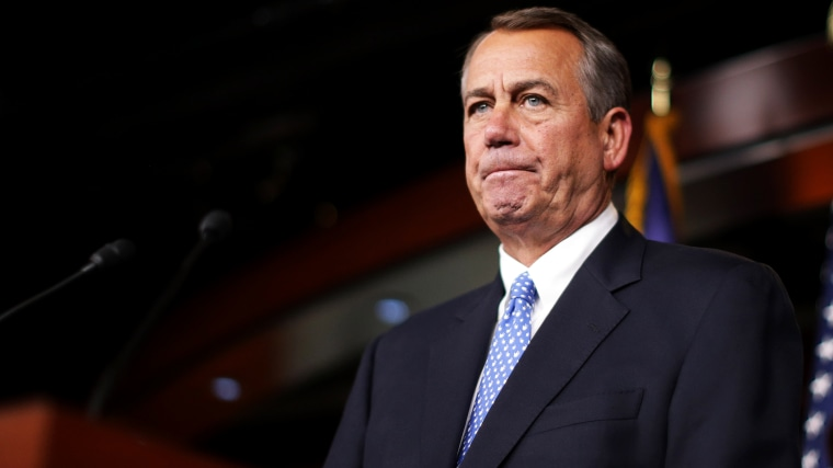 Speaker of the House John Boehner (R-OH) holds a news conference at the U.S. Capitol on Nov. 13, 2014 in Washington, D.C. (Photo by Chip Somodevilla/Getty)