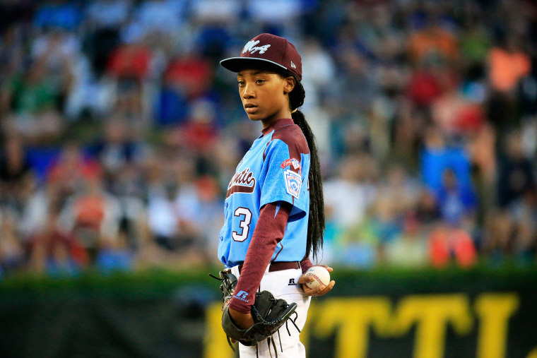 Mo'ne Davis #3 of Pennsylvania waits to pitch during the United States division game at the Little League World Series tournament at Lamade Stadium on Aug. 20, 2014 in South Williamsport, Pa. (Photo by Rob Carr/Getty)