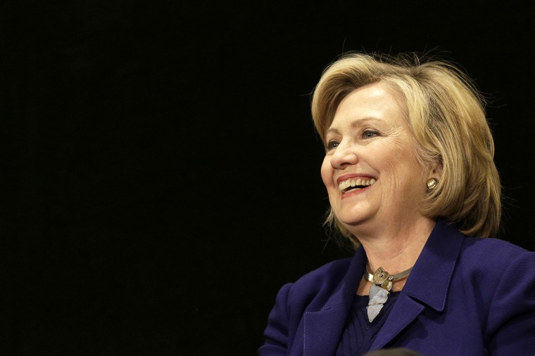 Former U.S. Secretary of State Hillary Clinton attends an event in New York, N.Y. on Oct. 23, 2014. (Photo by Andrew Gombert/EPA)