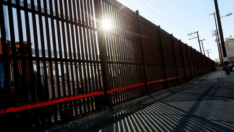 View of the U.S. - Mexico border wall on November 19, 2014 in Calexico, California.