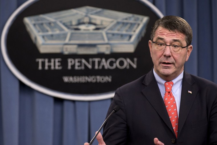 Deputy Defense Secretary Ashton Carter speaks during a news conference at the Pentagon, on March 1, 2013.