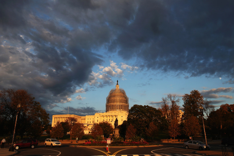 The afternoon sun hits the U.S. Capitol on Nov. 3, 2014 in Washington, D.C. (Photo by Mark Wilson/Getty)
