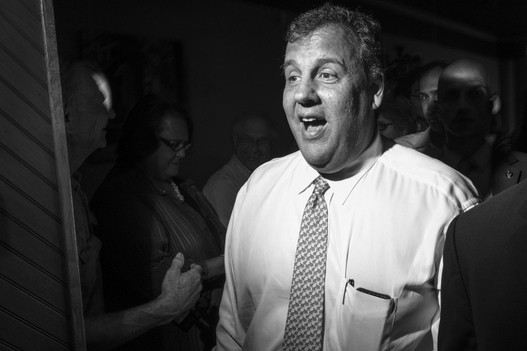 Governor Chris Christie meets voters at an event in Iowa on July 17, 2014. (Photo by Danny Wilcox Frazier/Redux)