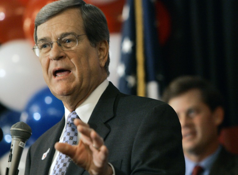 Sen. Trent Lott, R-Miss., addresses a victory party in Jackson, Miss., Tuesday, Nov. 7, 2006.