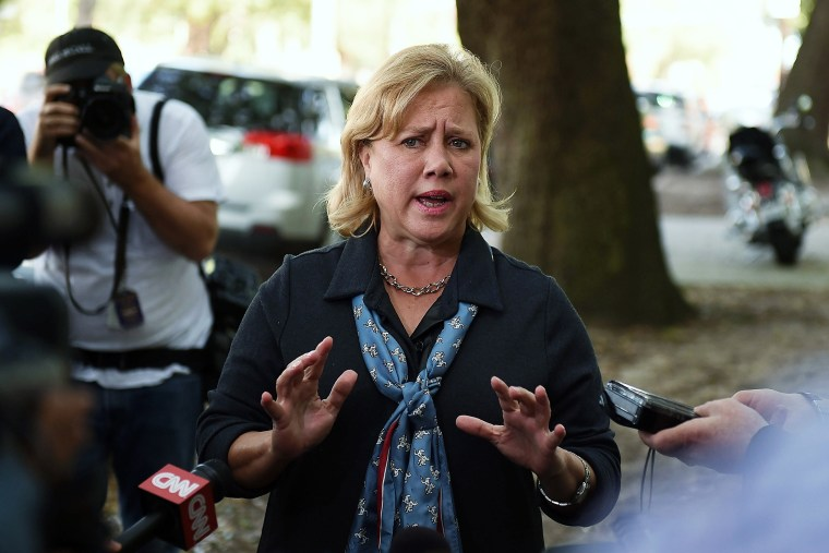 Sen. Mary Landrieu (D-La.) speaks with the media after voting on Nov. 4, 2014 in New Orleans, La. (Photo by Stacy Revere/Getty)