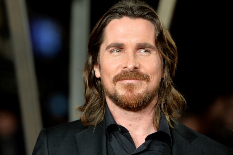 """Christian Bale attends the World Premiere of """"Exodus Gods and Kings"""" at Odeon Leicester Square on Dec. 3, 2014 in London, England. (Photo by Anthony Harvey/Getty)"""