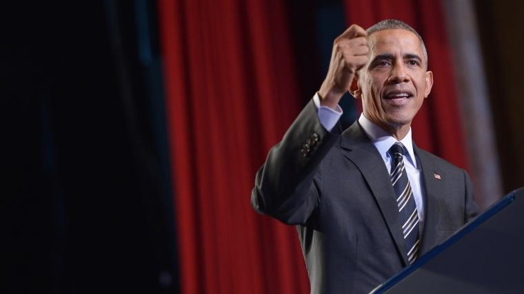 US President Barack Obama speaks on immigration reform at the Copernicus Community Center on Nov. 25, 2014 in Chicago. (Mandel Ngan/AFP/Getty)
