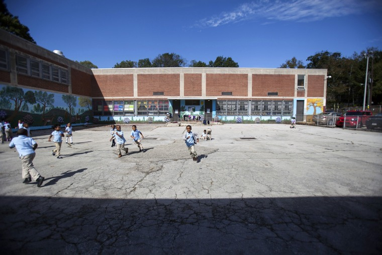 Students at recess at Anna Lane Lingelbach Elementary School in Philadelphia, Pa. on Oct. 9, 2014.