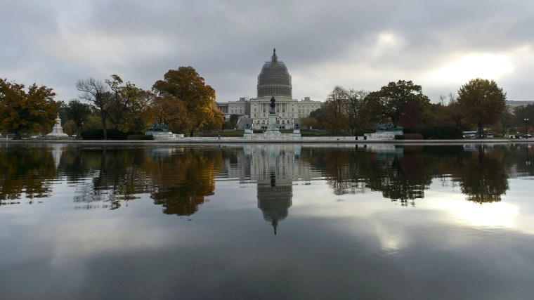 A view of the U.S. Capitol Building in Washington, D.C. (Photo by Brendan Smialowski/AFP/Getty)