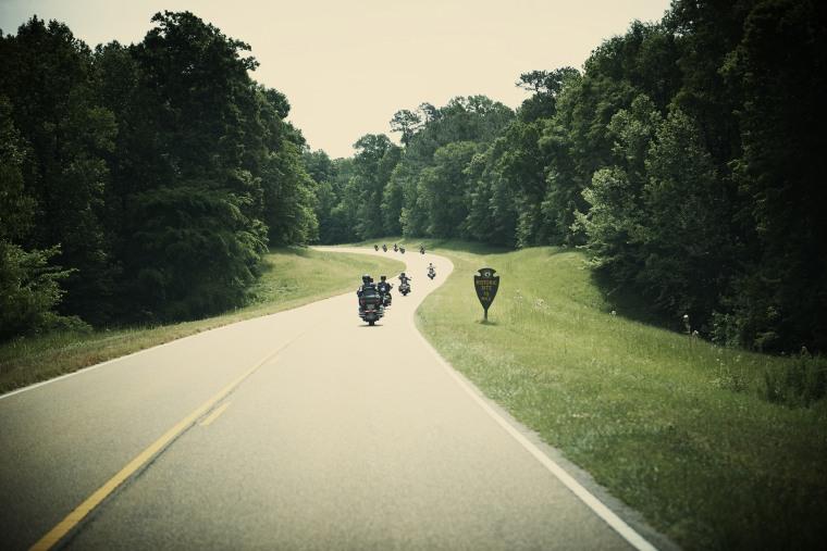 Motorbike riders on the road. (Photo by Jason Joyce/Gallery Stock)