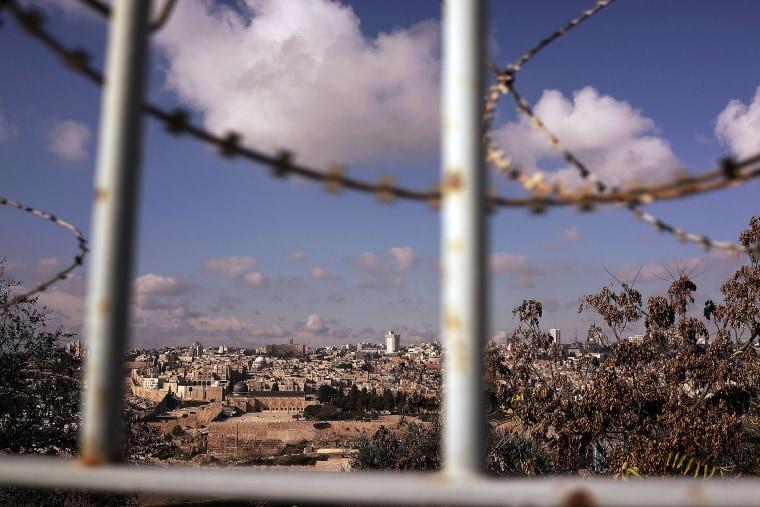 A view of the Old City in Jerusalem is seen on Nov/ 25, 2014 in Jerusalem, Israel. (Photo by Spencer Platt/Getty)