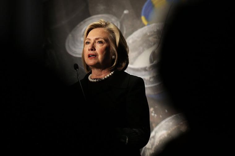 Hillary Rodham Clinton speaks at the Cookstoves Future Summit on Nov. 21, 2014 in New York City. (Spencer Platt/Getty)