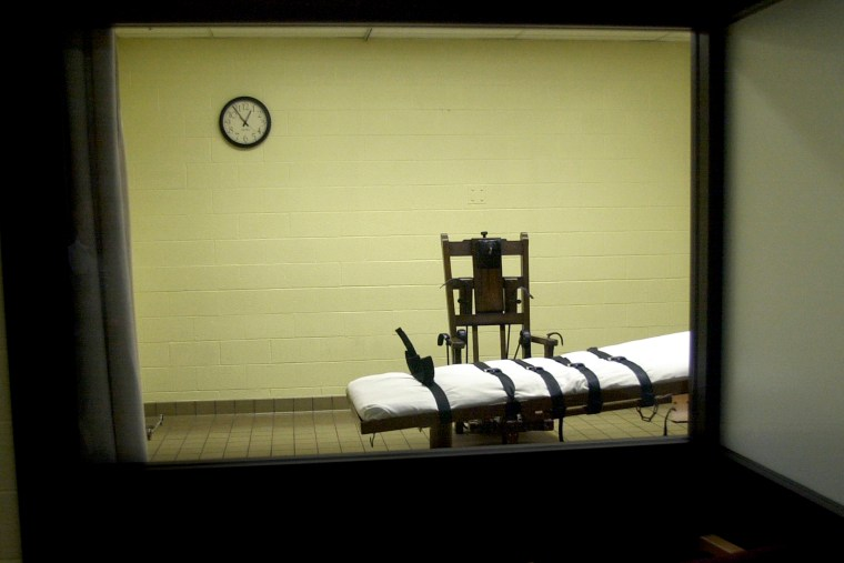 A view of a death chamber on Aug. 29, 2001. (Mike Simons/Getty)