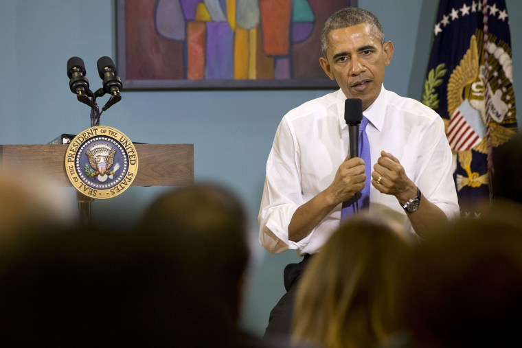 President Barack Obama answers questions about his recent executive actions on immigration on Dec. 9, 2014, at Casa Azafran in Nashville, Tenn. (Jacquelyn Martin/AP)