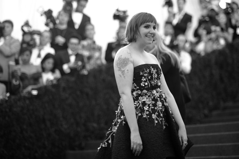 """Lena Dunham attends the \""""Charles James: Beyond Fashion\"""" Costume Institute Gala at the Metropolitan Museum of Art on May 5, 2014 in New York City. (Andrew H. Walker/Getty)"""