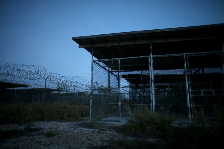 Holding cells are seen in the now closed Camp X-Ray which was the first detention facility to hold enemy combatants at the U.S. Naval Station on June 27, 2013 in Guantanamo Bay, Cuba. (Photo by Joe Raedle/Getty)