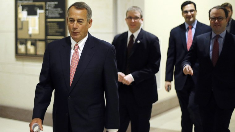 Boehner arrives for a news conference at the U.S. Capitol in Washington
