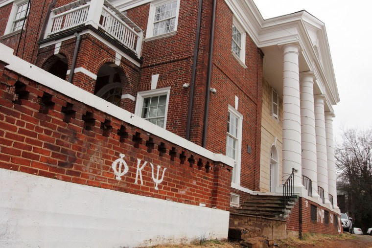 The Phi Kappa Psi fraternity house is seen on the University of Virginia campus on Dec. 6, 2014 in Charlottesville, Va. (Photo by Jay Paul/Getty)