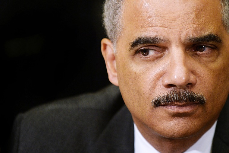 U.S. Attorney General Eric Holder attends a meeting on May 30, 2014 in Washington, D.C. (Photo by Olivier Douliery/Pool/Getty)
