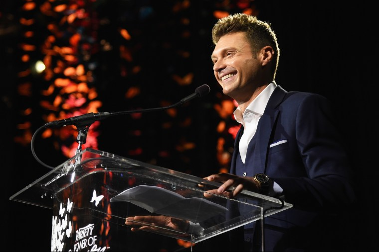 TV Personality Ryan Seacrest speaks onstage at an event on Oct. 10, 2014 in Los Angeles, Calif. (Photo by Jason Merritt/Getty for Variety)