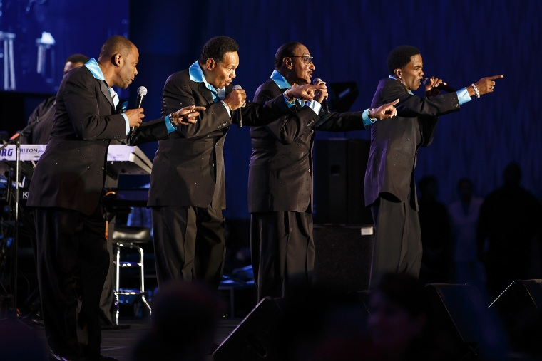 Motown legends The Four Tops perform at an event in Atlanta, Ga. on Oct. 17, 2013. (Photo by Paul Abell/AP for Boys & Girls Clubs of America)