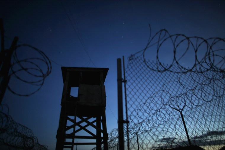 A watch tower is seen in the currently closed Camp X-Ray which was the first detention facility to hold enemy combatants at the U.S. Naval Station on June 27, 2013 in Guantanamo Bay, Cuba. (Photo by Joe Raedle/Getty)