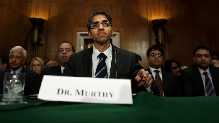 Dr. Vivek Hallegere Murthy, President Barack Obama's nominee to be the next U.S. Surgeon General, prepares to testify on Capitol Hill in Washington, D.C., Feb. 4, 2014. (Photo by Charles Dharapak/AP)