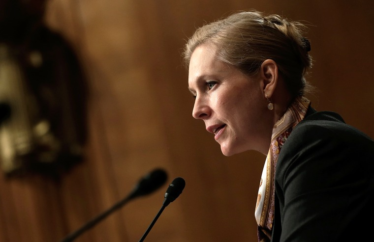 Sen. Kirsten Gillibrand (D-NY) speaks during a hearing, July 24, 2013 in Washington, D.C. (Photo by Win McNamee/Getty)