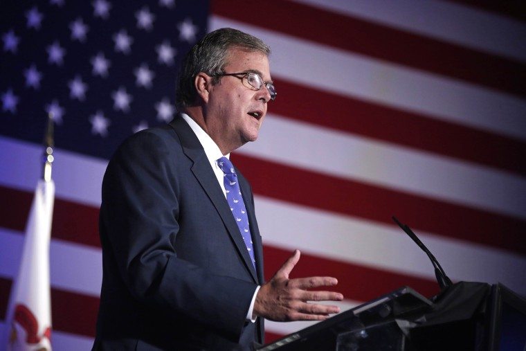 Former Florida Gov. Jeb Bush speaks at an event Aug. 9, 2013, in Chicago, Ill. (Photo by M. Spencer Green/AP)