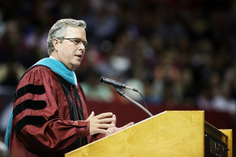 Former Florida Gov. Jeb Bush speaks at commencement exercises for The University of South Carolina in Columbia, S.C., on Dec. 15, 2014. (Tracy Glantz/AP)
