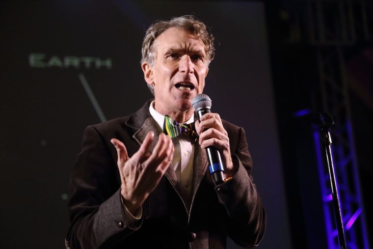 Bill Nye The Science Guy performs at the I F-ing Love Science Channel event during the 2014 SXSW Music, Film + Interactive Festival on March 8, 2014 in Austin, Texas. (John Davisson/Invision/AP)