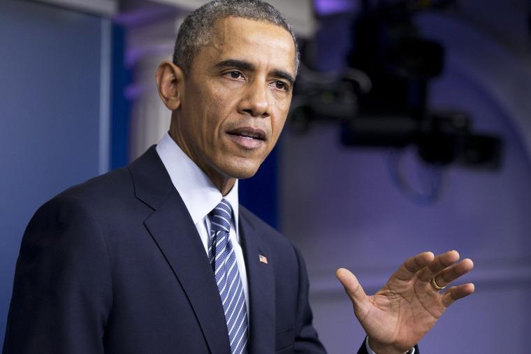President Barack Obama speaks in the Brady Press Briefing Room at the White House in Washington, D.C., Nov. 24, 2014. (Photo by Manuel Balce Ceneta/AP)