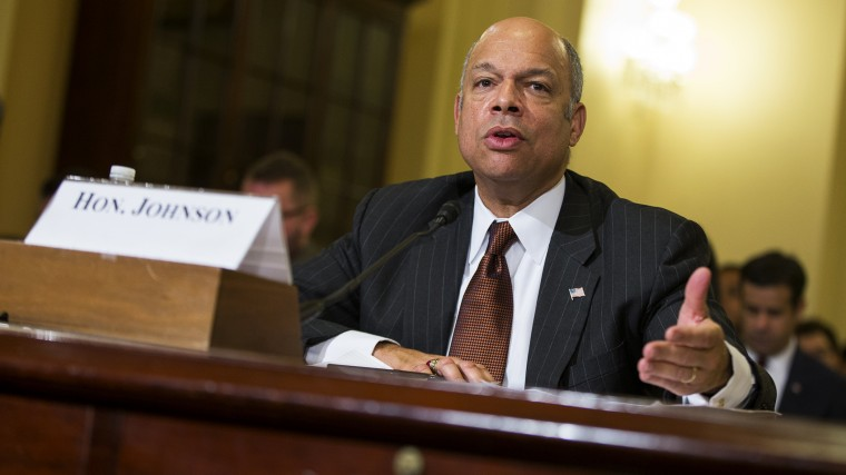 Homeland Security Secretary Jeh Johnson testifies on Capitol Hill in Washington, D.C., Dec. 2, 2014. (Photo by Evan Vucci/AP)