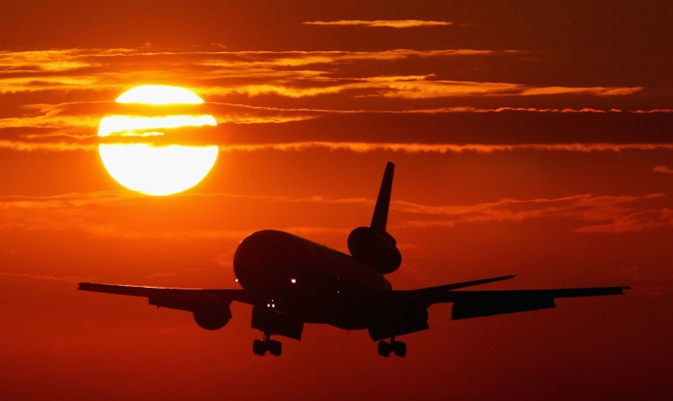Commercial Airline Comes In For Landing In Florida