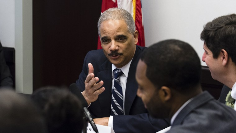 Attorney General Eric Holder Holds Roundtable With Cleveland Law Enforcement Officials