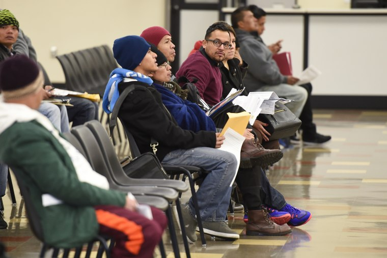 Applicants wait at the California Department of Motor Vehicles in Los Angeles, Calif. on Jan. 2, 2015. (Gus Ruelas/Reuters)