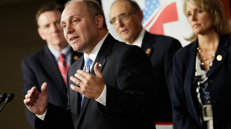 "U.S. Rep. Steve Scalise introduces the RSC's ""American Health Care Reform Act"" during a press conference on Sept. 18, 2013 in Washington, DC. (Win McNamee/Getty)"
