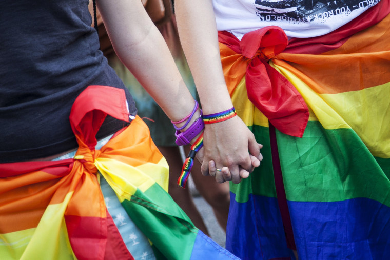 Gay Pride Parade, May 7, 2014. (DyD Fotografos/Geisler-Fotopress/picture-alliance/DPA/AP)
