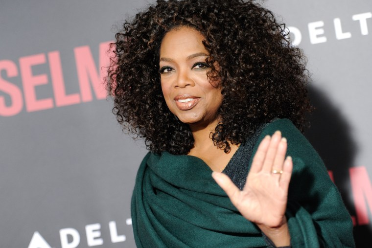 """Producer Oprah Winfrey attends the premiere of """"Selma"""" at the Ziegfeld Theatre on Dec. 14, 2014, in N.Y. (Evan Agostini/Invision/AP)"""