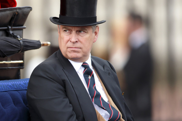 Prince Andrew, Duke of York returns to Buckingham Palace in a horse drawn carriage on June 15, 2013 in London, England.