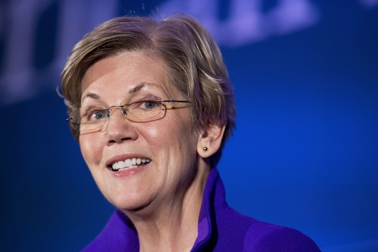 In this Nov. 19, 2014 file photo, Sen. Elizabeth Warren, D-Mass. speaks in Washington, D.C. (Photo by Manuel Balce Ceneta/AP)