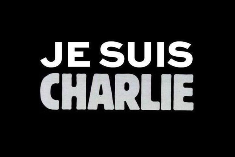 A graphic posted to the website of French publication Charlie Hebdo, following an attack at their offices on Jan. 7, 2015,