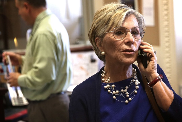 U.S. Sen. Barbara Boxer (D-CA) prior to a news conference June 12, 2013 on Capitol Hill in Washington, DC.