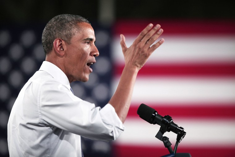 President Barack Obama speaks at an event on Jan. 7, 2015 in Wayne, Mich. (Photo by Bill Pugliano/Getty)