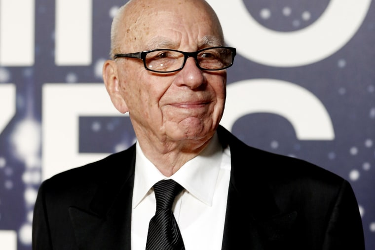Rupert Murdoch arrives at the NASA Ames Research Center in Mountain View, Calif. on Nov. 9, 2014.