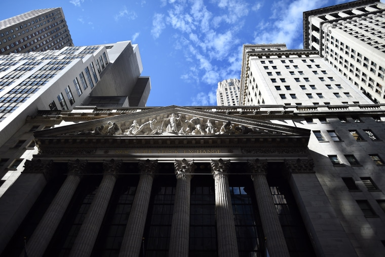 The New York Stock Exchange (NYSE) building is pictured on Oct. 16, 2014 in New York, N.Y. (Photo by Jewel Samad/AFP/Getty)