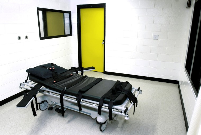 This file photo shows the death chamber at the state prison in Jackson, Ga. (Photo by Ric Feld/AP)