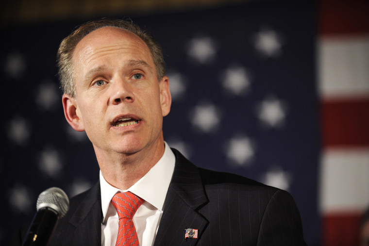 Republican New York State Attorney General candidate Dan Donovan speaks at an event on Nov. 2, 2010 in New York, N.Y. (Photo by Stephen Chernin/AP)