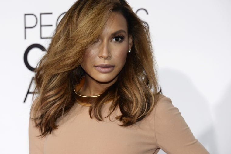 """Actress Naya Rivera from the Fox series """"Glee"""" arrives at the 2014 People's Choice Awards in Los Angeles, Calif. on Jan. 8, 2014."""