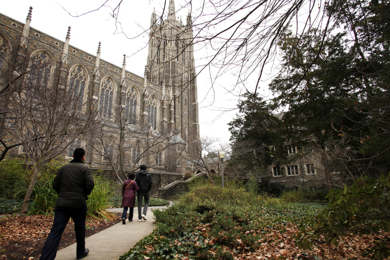 The Duke Chapel on campus at Duke University in Durham, N.C., Dec. 13, 2012. (Photo by Travis Dove/The New York Times/Redux)